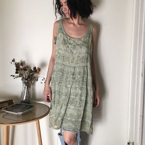 Vintage mint beaded tank/dress